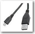 Perfect Lite 6' USB Silver Cable, Black