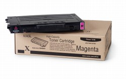 Genuine Xerox Phaser(R) 6100 Color Laser Printer Magenta Toner Cartridge High Capacity- 106R00681