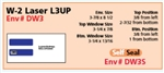 W-2 Laser L3UP Envelope