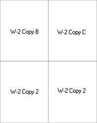 W-2 4UP Blank with instructions