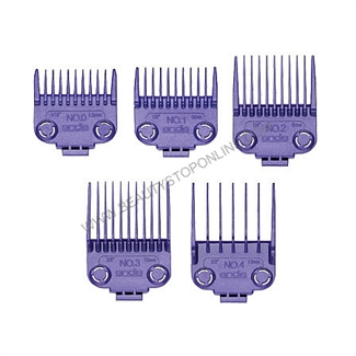 Andis Small Nano Silver Magnetic 5 piece Comb Set 01410