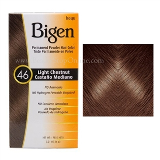Bigen Permanent Powder Hair Color 46 Light Chestnut