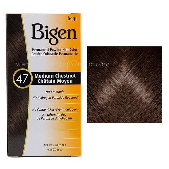 Bigen Medium Chestnut 47 Permanent Powder Hair Color