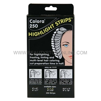 "Colora 250 Highlight Strips, Small 3"" x 5"""