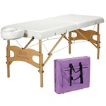 Satin Smooth White Portable Waxing Table with Nylon Bag (#SSPMT)