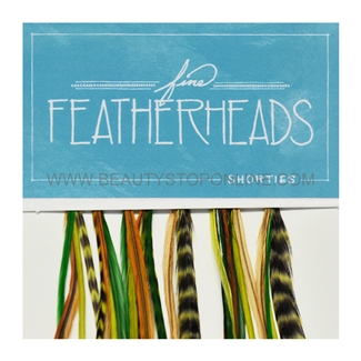 Fine FeatherHeads Shorties Extensions Green