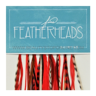 Fine FeatherHeads Shorties Extensions Red