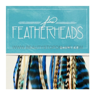 Fine FeatherHeads Shorties Extensions Turquoise