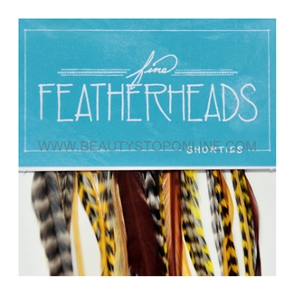Fine FeatherHeads Shorties Extensions Yellow