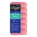 "Diane Self Grip Rollers 7/8"" Pink, 6 Pack"