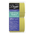 "Diane Self Grip Rollers 2 1/2"" Yellow, 2 Pack"
