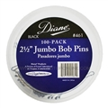 Diane Jumbo Black Bob Pins, 100 Pack