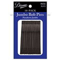 Diane Jumbo Black Bob Pins, 18 Pack
