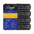 "Diane Snap-On Rollers 1 1/8"" Black, 8 Pack"