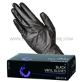 Colortrak Black Vinyl Gloves Large, 100 Pack