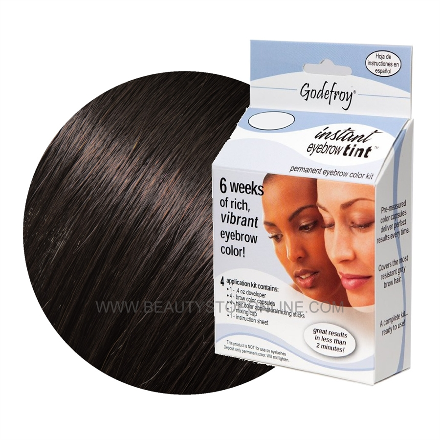 Instant Eyebrow Tint Color Weeks Medium Brown by godefroy #14