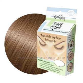 Godefroy Shape & Tint Permanent Eyebrow Color & Shaping Kit - Light Brown