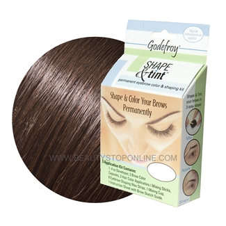 Godefroy Shape & Tint Permanent Eyebrow Color & Shaping Kit - Medium Brown
