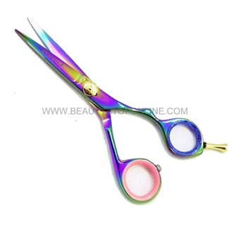 "Hasami B60-R Rainbow 5.5"" Shear With Removable Finger Rest"