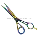"Hasami D60-R Rainbow 5.5"" Shear With Design Handle & Removable Finger Rest"