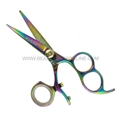 "Hasami G50-R Rainbow 5"" Shear With 3 Finger Holes & Rotating Thumb"