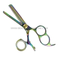 "Hasami I50-R Rainbow 5"" Thinning Shear With 3 Finger Holes & Rotating Thumb"