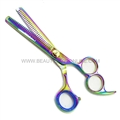 "Hasami K60-R Rainbow 6"" Thinning Shear Double Teeth With 3 Finger Holes"