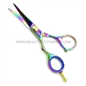 "Hasami L50-R Rainbow 5"" Left Handed Shear with Removable Finger Rest"