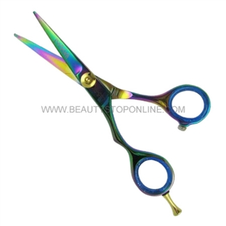 "Hasami L55-R Rainbow 5.5"" Left Handed Shear with Removable Finger Rest"