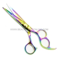 "Hasami M65-R Rainbow 6"" Shear With 3 Finger Holes"