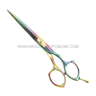 "Hasami T65-R Rainbow 6"" Shear With Removable Finger Rest"