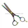 "Hasami U60-R Rainbow 5.5"" Thinning Shear With Removable Finger Rest"