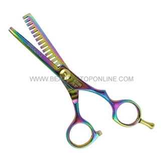 "Hasami X55-R Rainbow 5.5"" Texturizer Thinning Shear With Removable Finger Rest"