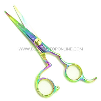 "Hasami Z50-R Rainbow 5"" Shear With Finger Rest"