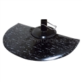 Rhino Marbleized Half Circle Anti Fatigue Mat - 3' X 5' (Black/White)