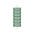 "Jet Set EZ Green Grip Rollers - 7/8"" (6 Pack)"