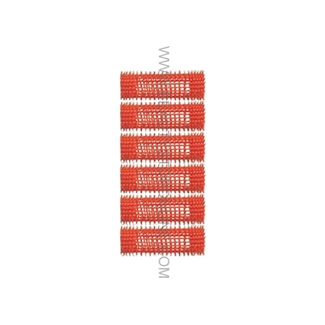 "Jet Set EZ Orange Grip Rollers - 1 1/16"" (6 Pack)"