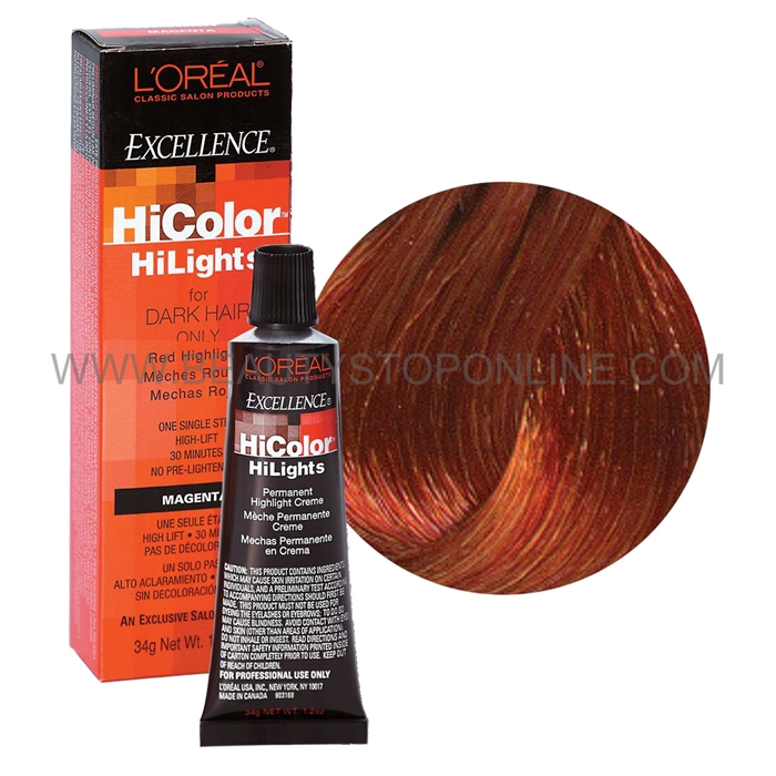 L Oreal Excellence Hicolor Red Hilights Copper Beauty