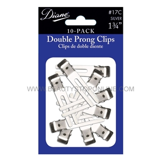 Diane Double Prong Clips, 10 Pack