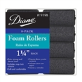 "Diane Foam Rollers 1 1/4"" Black, 8 Pack"