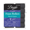 "Diane Foam Rollers 1"" Black, 10 Pack"