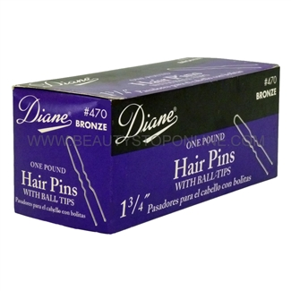 "Diane 1 3/4"" Bronze Hair Pins, 1 Pound"