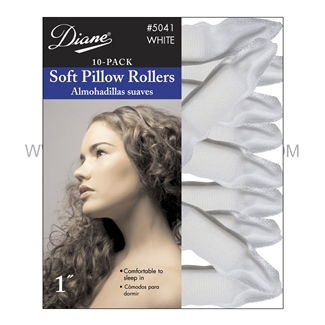 Diane Soft Pillow Rollers White #5041