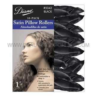 Diane Soft Pillow Rollers Black #5042