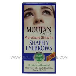 Moujan 2000 Pre-Waxed Strips For Shapely Eyebrows