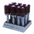 Spornette SQ-1 Square Stylers 12 Piece Brush Display