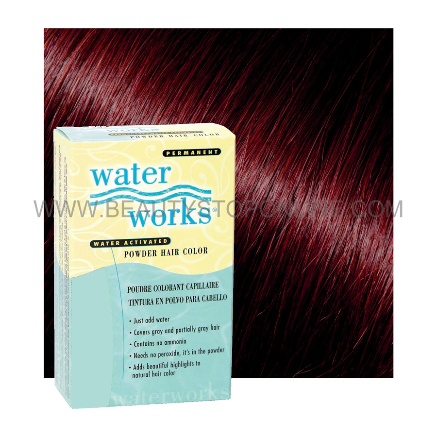 Water Works Black Cherry 30 Permanent Powder Hair Color Beauty