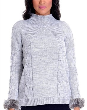 Women Grey Designer Knit Sweater
