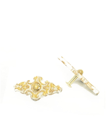 Janick Designer Hand-Crafted Cufflinks Flat Gold