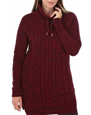 Women Burgundy Knit Sweater